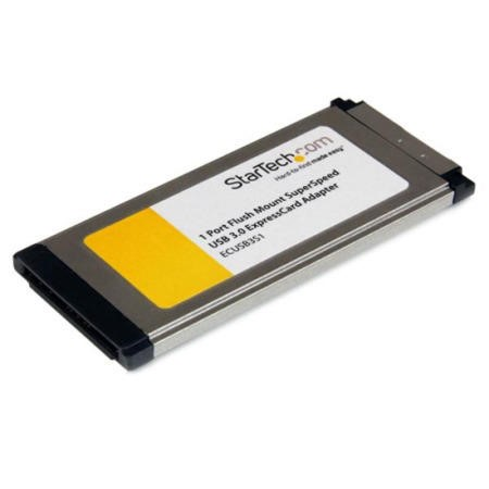 StarTech.com 1 Port Flush Mount ExpressCard SuperSpeed USB 3.0 Card Adapter with UASP Support