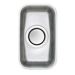 Astracast EDH1XXHOMESK Edge H1' Undermount Half Bowl Polished Stainless Steel Sink