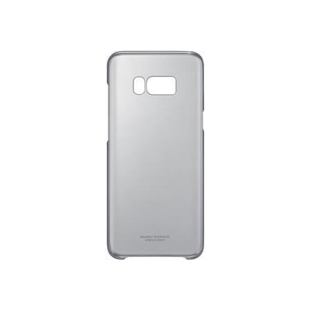 QG955CBE Clear Cover for Galaxy S8 Plus Black