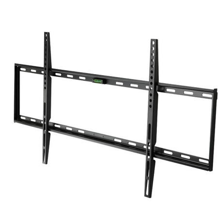"electriQ Super Slim Flat to Wall TV Bracket for TVs up to 86"" with VESA up to 800 x 400mm and 50kg Load"