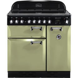 Rangemaster 100970 Elan 90cm Electric Range Cooker With Ceramic Hob - Olive Green