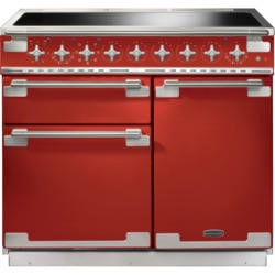Rangemaster ELS100EIRD 100220 Elise 100 Electric Range Cooker With Induction Hob In Cherry Red