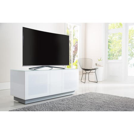 "EMT1250XL-WHI Alphason EMT1250XL-WHI Element XL Modular TV Stand for up to 60"" TVs - White"