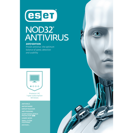 ESET Nod32 Antivirus - Ideal for gaming - 1 User 12 month subscription