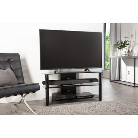 "ESS1000/3-BLK Alphason ESS1000/3-BLK Essentials TV Stand for up to 45"" TVs - Black"