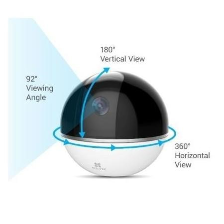 EZVIZ C6T 1080p Indoor Pan/Tilt & Motion Tracking Smart Wi-Fi Camera- Works with Amazon Alexa & Google Assistant IFTTT