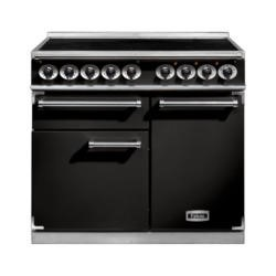Falcon 100100 - 1000 Deluxe 100cm Electric Range Cooker With Induction Hob - Black
