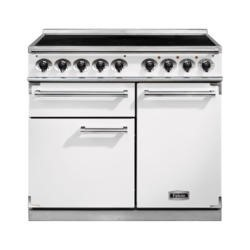 Falcon 100150 - 1000 Deluxe 100cm Electric Range Cooker With Induction Hob- White