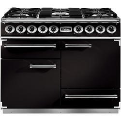 Falcon 76860 - 1092 Deluxe 110cm Dual Fuel Range Cooker - Black And Chrome - Matt Pan Stands