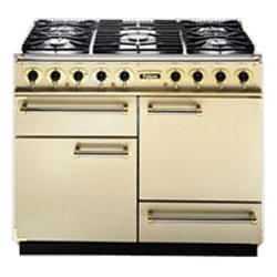 Falcon 76800 - 1092 Deluxe 110cm Dual Fuel Range Cooker - Cream And Brass - Matt Pan Stands