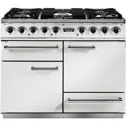 Falcon 82310 - 1092 Deluxe 110cm Dual Fuel Range Cooker - White And Nickel - Gloss Pan Stands