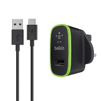 Belkin USB-C Home Charger with Removable USB-C Charge Cable in Black