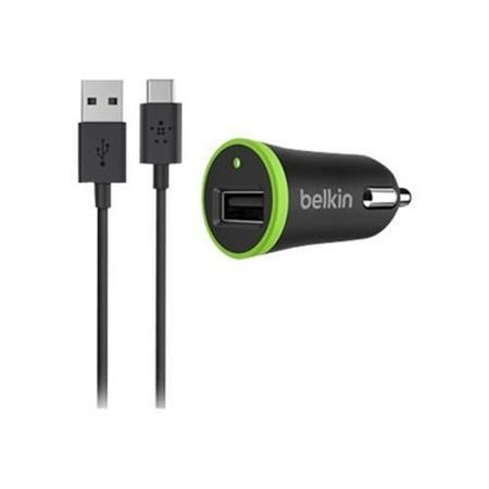 Belkin USB-C to USB-A Cable with Universal Car Charger in Black