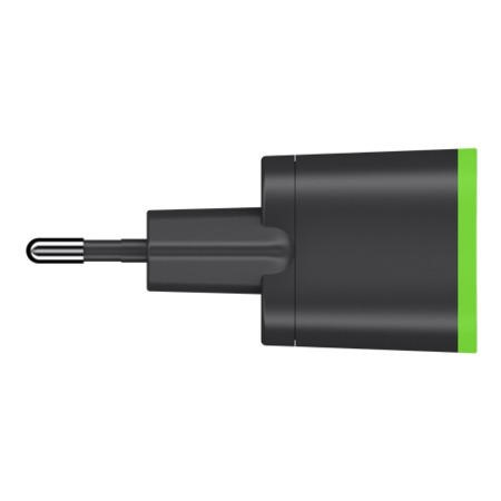 Belkin AC wall charger with Lightning Connector - MFI Certified Cable 2.1amp for Apple iPhone in Black Euro Plug