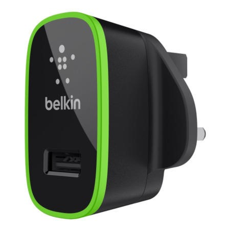 Belkin AC wall charger with Lightning Connector - MFI Certified Cable 2.1amp for Apple iPhone in Black
