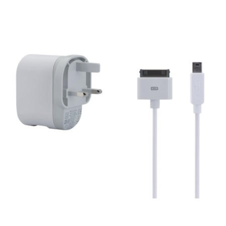 Belkin AC wall charger with Lightning Connector - MFI Certified Cable 2.1amp for Apple iPhone in White