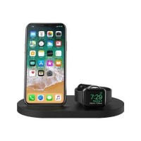 Belkin BOOST UP Wireless Charging Dock for iPhone + Apple Watch + USB port - Black