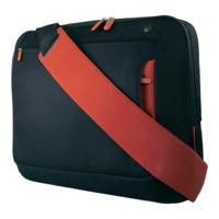 "Belkin 17"" Laptop Messenger Bag in Black/Red"