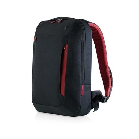 "F8N159EABR Belkin 17"" Line Slim Backpack in Black & Red"