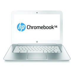HP Chromebook 14-q010sa 4GB 16GB 14 inch Google Chromebook Laptop in White & Silver