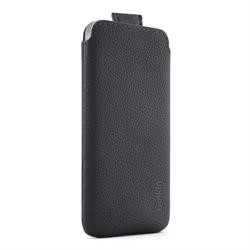 Belkin PU Leather Pull Tab Pouch Case for Apple iPhone 5 in Black