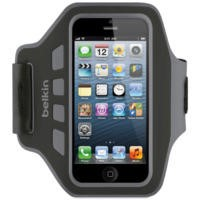 Belkin Neoprene Slim EaseFit Armband for iPhone 5 in Black/Grey