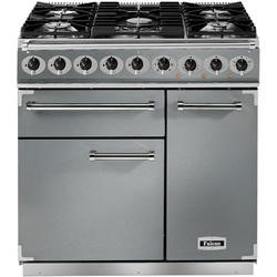 Falcon 77070 - 900 Deluxe 90cm Dual Fuel Range Cooker - Stainless Steel And Chrome - Matt Pan Stands