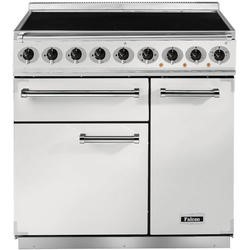 Falcon 82430 - 900 Deluxe Induction 90cm Electric Range Cooker - White And Nickel