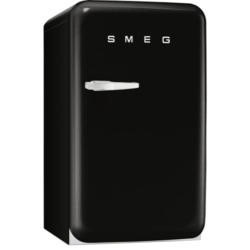 Smeg FAB10RNE Retro Style Right Hand Hinge Fridge With Ice Box - Black - one only at this price -  Clearance