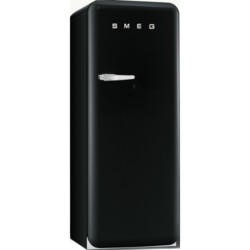 Smeg FAB28QNE1 50s Style Right Hand Hinge Freestanding Fridge with Ice Box in Black