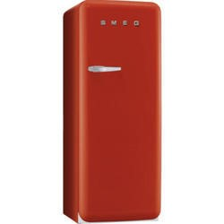 Smeg FAB28QR1 50s Style Right Hand Hinge Freestanding Fridge with Ice Box in Red