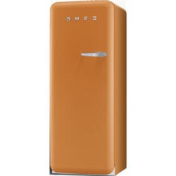 Smeg FAB28YO1 50s Style Orange Left Hand Hinge Freestanding Fridge with Ice Box