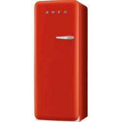 Smeg FAB28YR1 50s Style Red Left Hand Hinge Freestanding Fridge with Ice Box