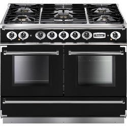 Falcon 79920 Continental 1092 110cm Dual Fuel Range Cooker - Black And Chrome - Gloss Pan Stands