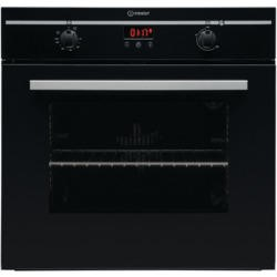 Indesit FIM33KABK Fanned Electric Built In Single Oven with Programmable Timer in Black
