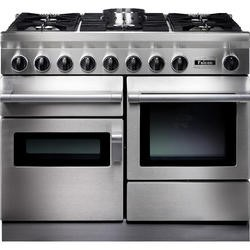 Falcon 83470 CKR 110cm Dual Fuel Range Cooker - Stainless Steel - Porthole Doors - Gloss Pan Stands