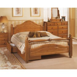Airsprung Carolina Bed with Fashion Rail - double