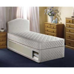 Airsprung Quattro Single Divan and Mattress - with sliding doors