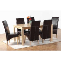 Seconique Belgravia Dining Set in Brown
