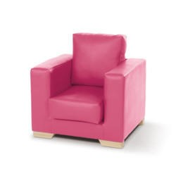 Just4Kidz Milan Childrens Armchair in Raspberry