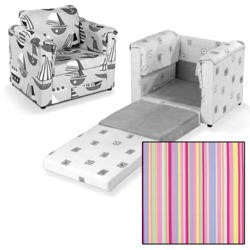 Just4Kidz Chair Bed in Candy Stripe