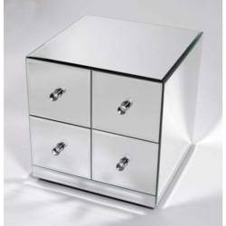 Morris Mirrors Art Mirrored 4 Drawer Cube