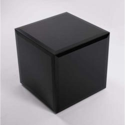 Morris Mirrors Coco Glass Cube Side Table in Black