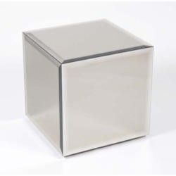 Morris Mirrors Coco Glass Cube Side Table in Bronze