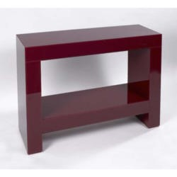 Morris Mirrors Dita High Gloss Console Table in Red