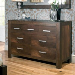 Bentley Designs Lyon Walnut 4+3 Drawer Dresser
