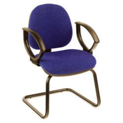 Dams Furniture Vantage 300 Fabric Visitors Chair With Fixed Arms