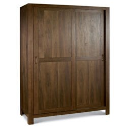 Bentley Designs Lyon Walnut Sliding Door Large Double Wardrobe