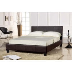 Seconique Prado Upholstered Double Bed in Brown