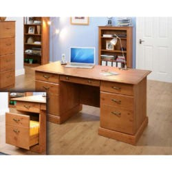 Teknik Office Maison Fine Twin Pedestal Executive Desk